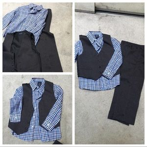 Boys vest shirt and pants set